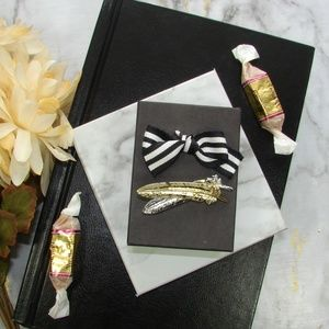 Silver & Gold Tone Feather Brooch